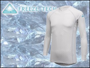 フリーズテック/冷却インナーシャツ 長袖 クルーネック