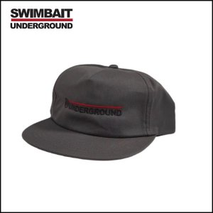 SWIMBAIT UNDERGROUND/UNDERGROUND WORDMARK UNSTRUCTURED SNAPBACK CAP