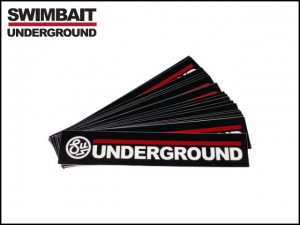 """SWIMBAIT UNDERGROUND/WORDMARK 7"""" ステッカー"""