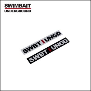 "SWIMBAIT UNDERGROUND/UNSTACKED INITIALS 4"" ROD ステッカー"