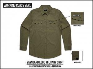 WORKING CLASS ZERO/Standard Logo Military Shirt