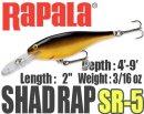Rapala/SHAD RAP 5 【新色入荷】