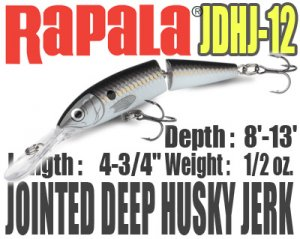 Rapala/JOINTED DEEP HUSKY JERK 【JDHJ-12】