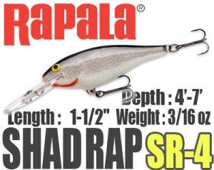 Rapala/SHAD RAP 4
