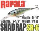 Rapala/SHAD RAP 6
