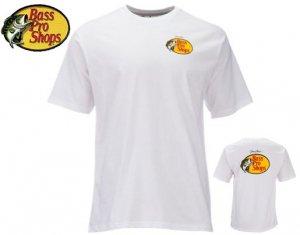 BassProShops/ジョニーモリス ウッドカットロゴ Tシャツ