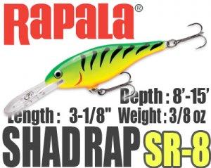Rapala/SHAD RAP 8
