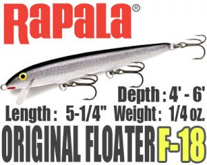 Rapala/ORIGINAL FLOATER 【F-18】
