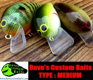 【スプリング キャンペーン】 Dave's Custom Baits/Black Market Balsa 【Medium】