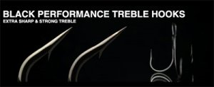 NORIES/BLACK PERFORMANCE TREBLE HOOKS