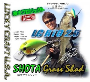Lucky Craft USA/LC RTO 2.5 【SHOTA GRASS SHAD】