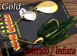 WAR EAGLE/Spinnerbait Colorado/Indiana 【Gold】