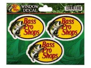 Bass Pro Shops Die-Cut Vinyl  Window Decal