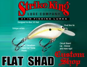 Strike King /FLAT SHAD 【Custom Shop Model】