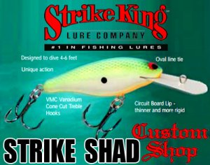 Strike King /STRIKE SHAD 【Custom Shop Model】