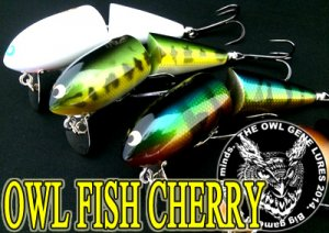 THE OWL GENE LURE'S/OWL FISH CHERRY