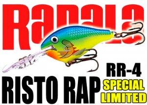 Rapala/RISTO RAP RR-4 【限定復刻】