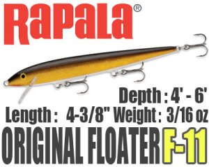 Rapala/ORIGINAL FLOATER 【F-11】