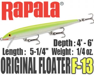 Rapala/ORIGINAL FLOATER 【F-13】