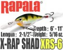 Rapala/ X-RAP SHAD 【XRS-6】