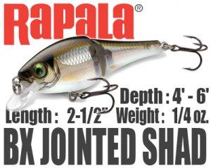 Rapala/BX JOINTED SHAD 【BXJSD-6】