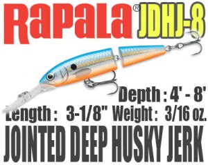 Rapala/JOINTED DEEP HUSKY JERK 【JDHJ-8】