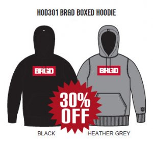 Bass Brigade HOD301 BRGD BOXED HOODIE