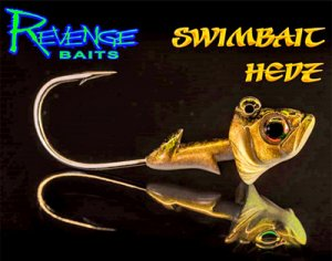 REVENGE BAITS/Swimbaits Hedz 【3/16oz、1/4oz】