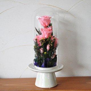 プリザーブドお仏花 ガラスドーム