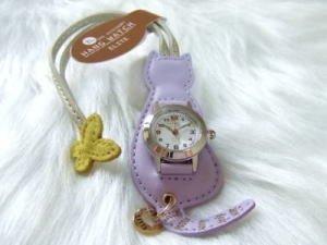 バックにつけるかわいい時計/ねこちゃん