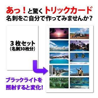 トリックカード 【ハワイシリーズ】3シートセット(30枚分)