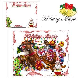 《期間限定》変化するポスター「HOLIDAY MAGIC」クリスマス仕様のトリックポスター
