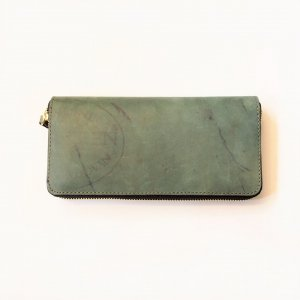 LEATHER GARRISON ROUNDZIP LONG WALLET -BACKSKIN