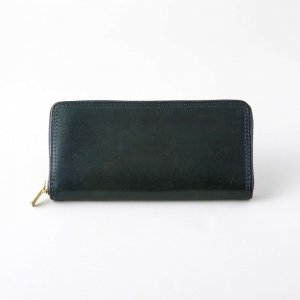 LEATHER VOYAGE ROUND ZIP LONG WALLET