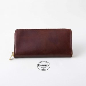 LEATHER GARRISON ROUND ZIP LONGWALLET