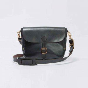 LEATHER POSTMAN SHOULDER BAG SMALL(PLANE)