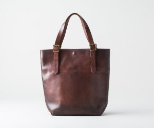 LEATHER TRAVEL TOTE BAG -  HEIGHT