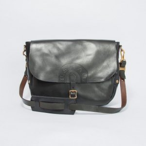 LEATHER POSTMAN SHOULDER BAG -LARGE(USMAIL)