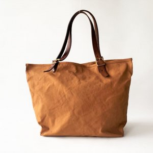 CANVAS×LEATHER TRAVEL TOTE BAG