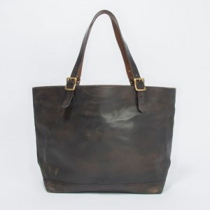 LEATHER TRAVEL TOTE BAG -LARGE