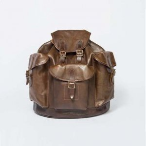 LEATHER ARMY RUCKSACK