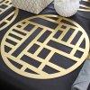 【OUTLET】モダンスタイル ラウンドプレイスマット4枚セット「ゴールド」 4枚セット