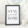フレーム付きカリグラフィー 「STAY sweet HOME」ブラックA4type