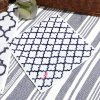 《ゆうパケット対応》×SHIGERUコラボ モロッカン柄ハンドタオル(イニシャル刺繍入り:ピンク)