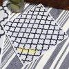 《ゆうパケット対応》×SHIGERU コラボモロッカン柄ハンドタオル(ネーム刺繍入り:イエロー)