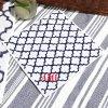 《ゆうパケット対応》×SHIGERU コラボモロッカン柄ハンドタオル(ネーム刺繍入り:レッド)