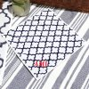 SPARA×SHIGERU コラボモロッカン柄ハンドタオル(ネーム刺繍入り:レッド)