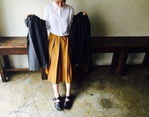 太プリーツスカート【ショート丈】<br>【3色】Charpentier de Vaisseau