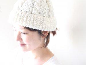 ハンドメイドニット帽<br>MAGEE