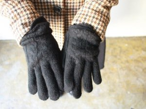 カシミヤ手袋【2色】<br>William Brunton Hand Knits